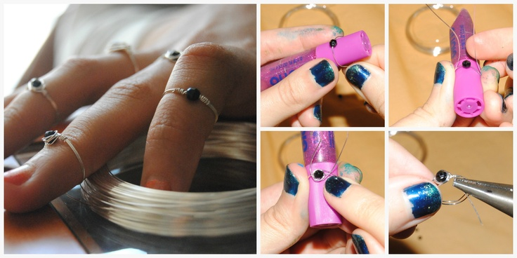 DIY rings http://sarahloops.blogspot.com.es/2013/06/diy-crea-tus-propios-anillos.html on da blog now!!!!!!!! Ü