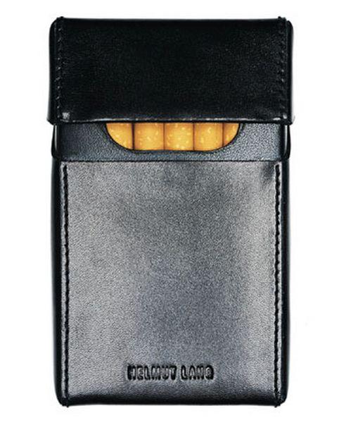 Helmut Lang Black Leather Cigarette Case