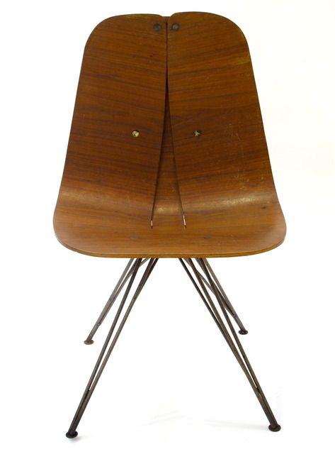 Over Bertelsen . Bent Plywood Swivel Chair, 1945
