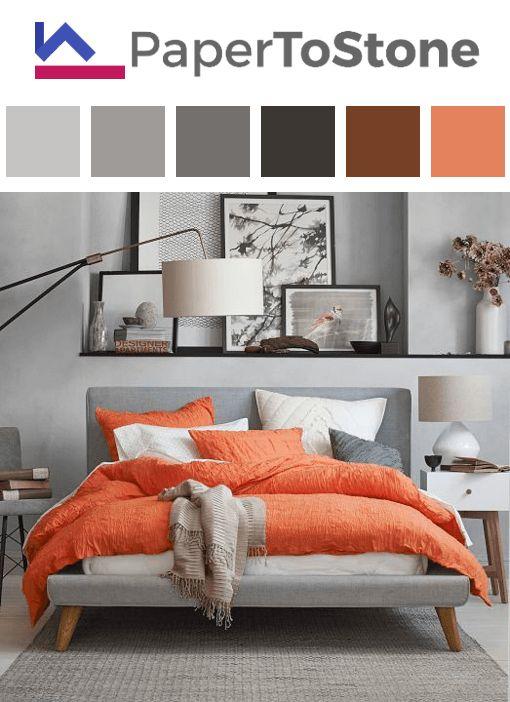 25 best ideas about grey orange bedroom on pinterest paint colors boys room orange bedroom. Black Bedroom Furniture Sets. Home Design Ideas