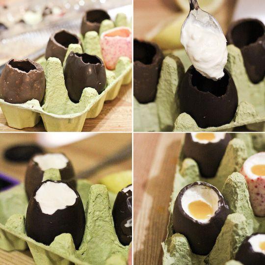 Easter cheesecake eggs
