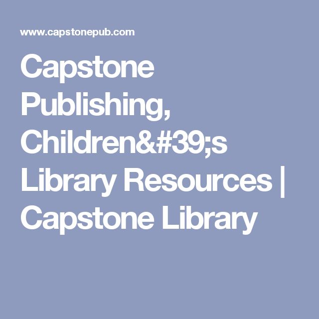 Capstone Publishing colbro - Capstone Publishing