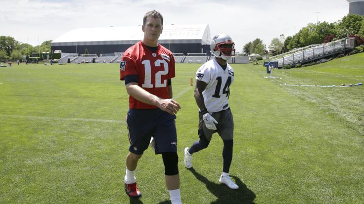 A giddy Tom Brady is back at work at Gillette Stadium