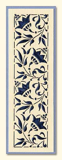 unknown date and creator; 'Holy Nativity Convent' website; laser cut flower-bookmark; this could be replicated [CASEd] using dies