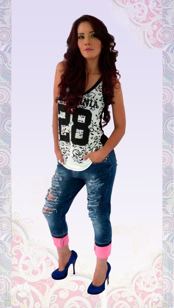 Jeans #colombianos #levantacola. #pushup. #catalogo. #diseños 2015. Cute Outfits With #ripped jeans.
