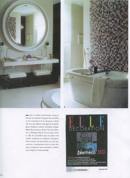 Our work showcased in Elle Decoration