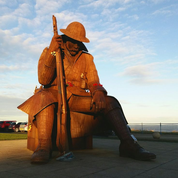 Tommy the soldier. A world war memorial at Seaham