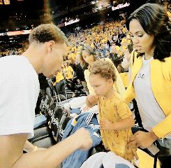 And when she copied Stephen's signature move. | 30 Of The Absolute Cutest Riley Curry Moments