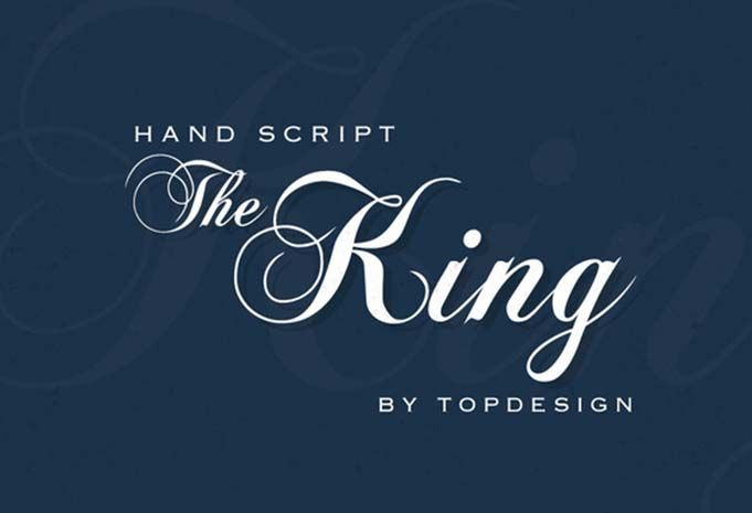 The king font family free fancy deal a