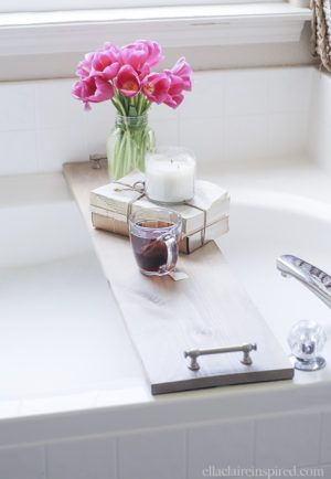 Bathtub Tray - 12 DIY Mothers Day gifts - Little Free Monkeys