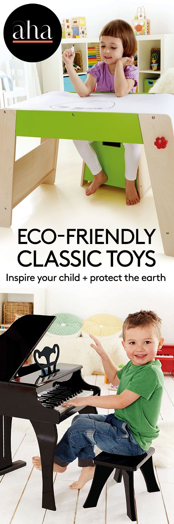 Hape Toys - Although Hape Toys products are inspiring renditions of classic and timeless children's favorites, they are the result of a sustainable and eco-friendly production process that supports educational charities overseas. Shop now: http://www.ahalife.com/hape-toys?utm_source=Pinterest&utm_medium=ads&utm_campaign=HapeToys_Android&rw=0