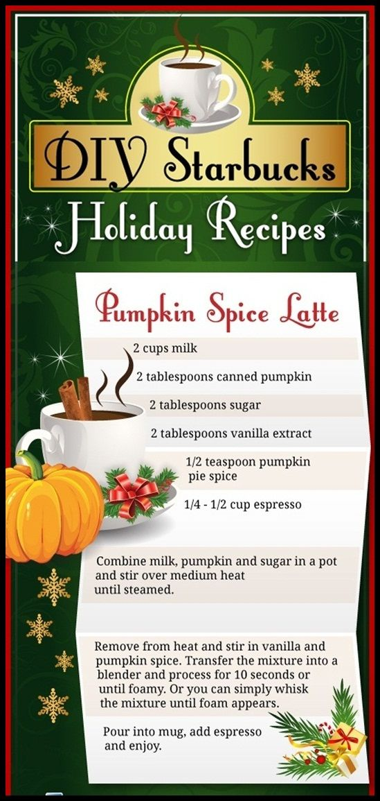 DIY – Pumpkin Spice Latte | I Love To Cook