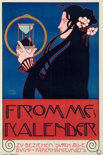 Koloman Moser. Fromme Kalender. 1898.