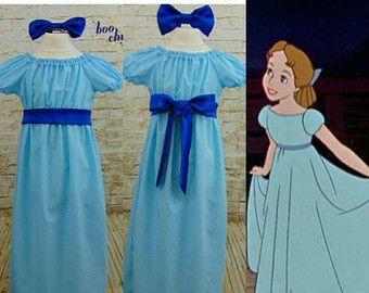Tamaños de Wendy adulto disfraz Peter Pan adulto de disfraces