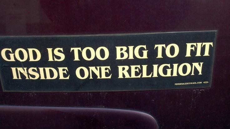 God is too big!