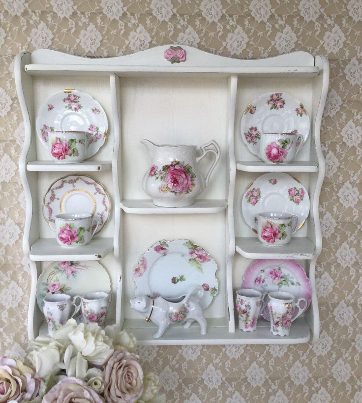 A personal favorite from my Etsy shop https://www.etsy.com/listing/256260877/shabby-cottage-chic-wall-curio