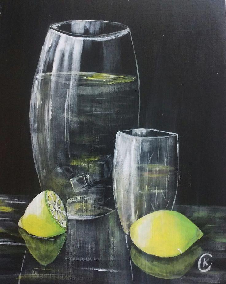 Limonádé 40x30cm Akril ,farost