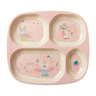 Bambus Melamin Menüteller 'Girls Cooking' von rice. Jetzt online für 12,90€ kaufen bei Little Roomers.
