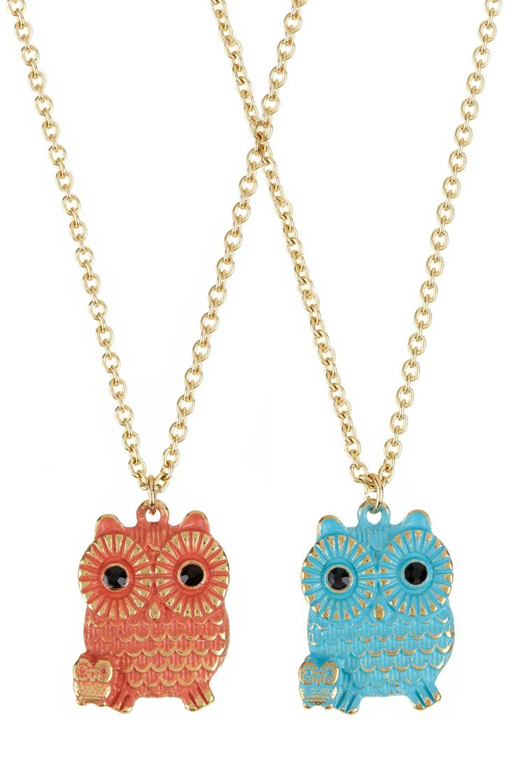 Baby Owl Necklace Set - so cute!