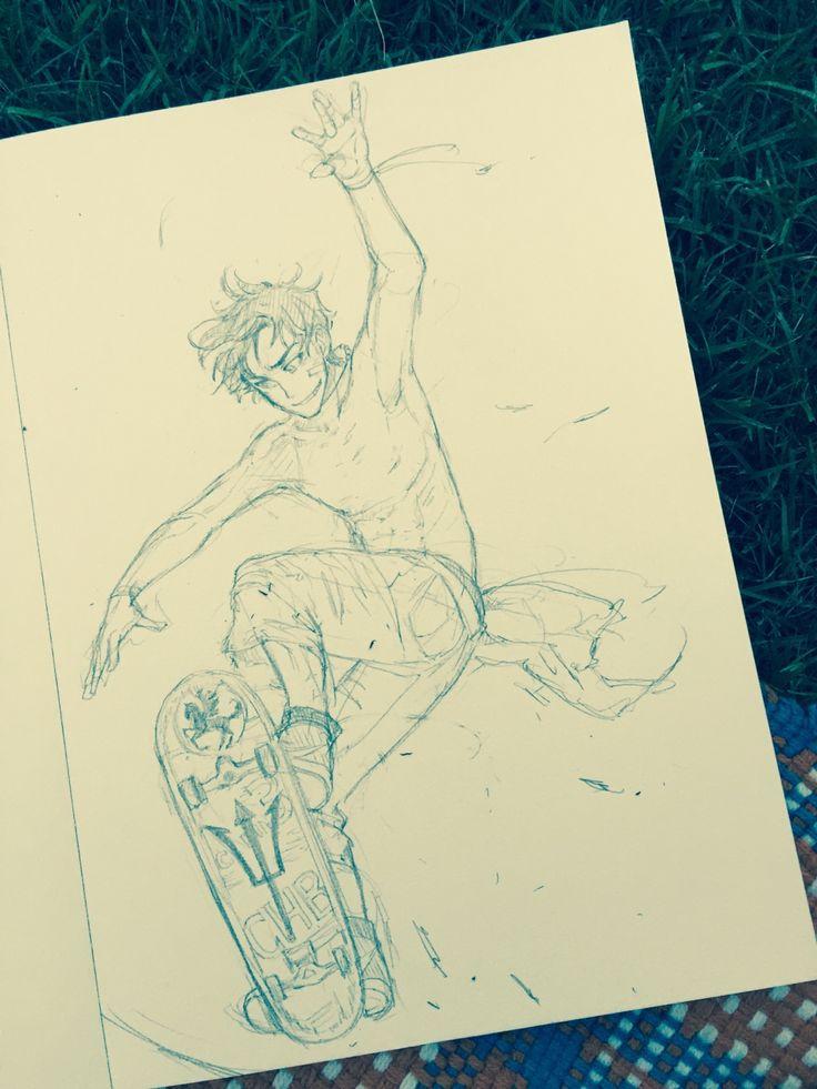 Percy qui fait du skate XDDD