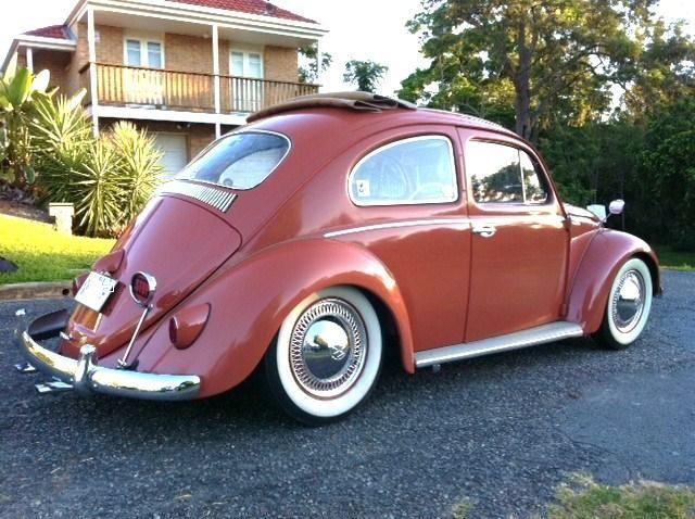 Vw-beetle-1958-genuine-ragtop-super-rare-Coral-Red | VW | Vw beetles, Beetle, Volkswagen