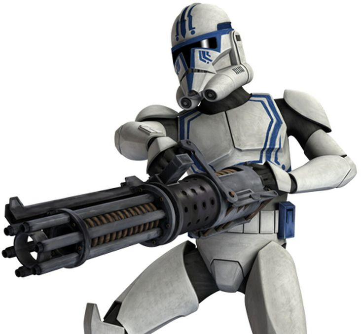 Hardcase is a clone trooper who served in the 501st Legion, a unit in the Galactic Republic's Grand Army, during the Clone Wars. Hardcase was present during a hunt for the Confederate General Grievous on the planet Saleucami around 21 BBY. With troopers J