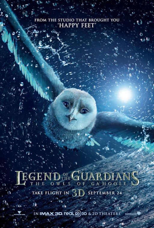 Legend of the Guardians: The Owls of Ga'Hoole based on the Guardians of Ga'Hoole book series by Kathryn Lasky.