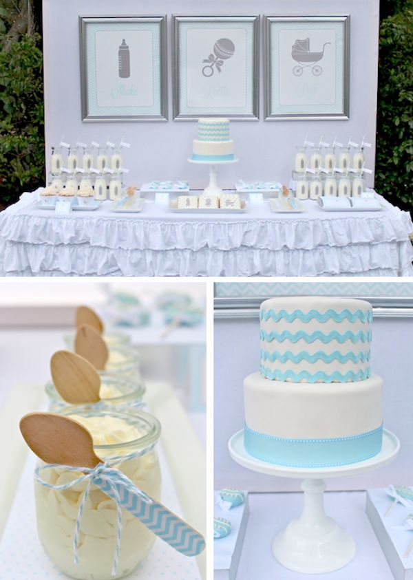 Baby Shower Decorating Ideas Guests won't believe these stylish decorations were a snap to make! Little Prince Baby Shower Ideas Celebrate the glowing mother-in-waiting and her little charming! #babyshower