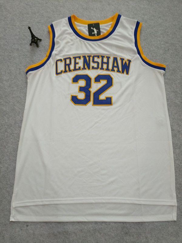 Love and Basketball 22 Quincy McCall Jersey #32 Monica Wright Crenshaw High School Basketball Jerseys S-XXL