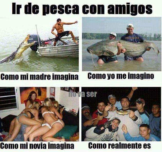 Ir de pesca con los amigos... ;) #humor