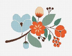 Floral Motif cross stitch pattern