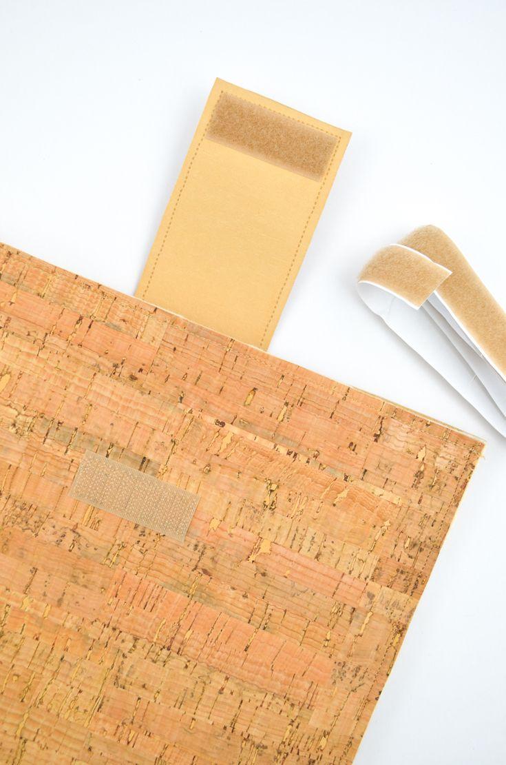 DIY-Anleitung für eine Laptophülle aus Kork / DIY tutorial for a laptop case made of cork