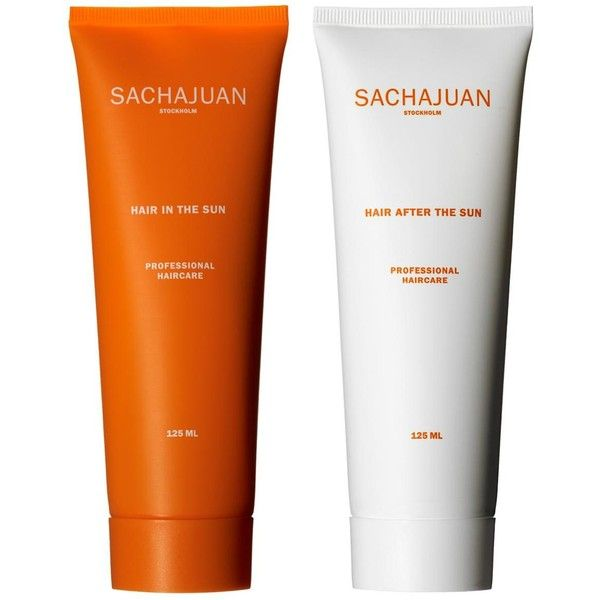 Sachajuan Sun Protection Hair Care Duo Found On Polyvore Hair Care Top Beauty Products Sunscreen Packaging