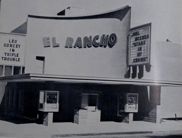 El Rancho Theater, Victorville, California, 1950