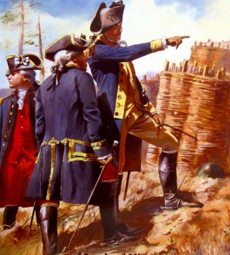 Washington and Rochambeau at the Siege of Yorktown