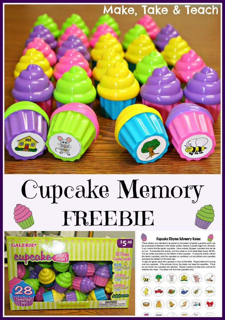 Free printable for making your own cupcake memory game!
