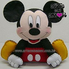 molde mickey mouse feltro - Pesquisa Google