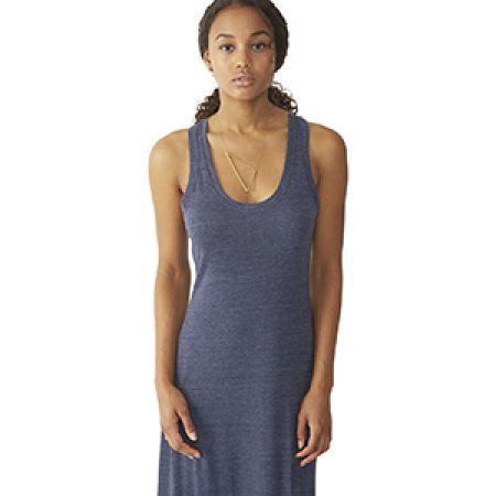 Alternative Womens Racerback Maxi Dress (01968E1) -ECO TRUE NAV -M