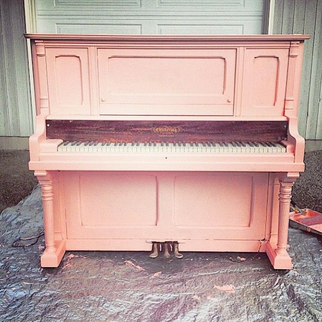 """""""The piano I painted a few years back for our engagement photos """""""