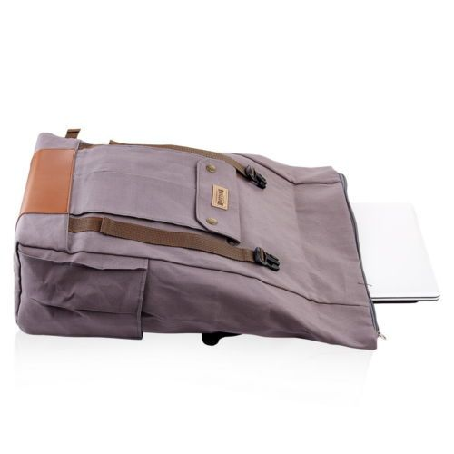"""Stylish Vintage Roll Top Backpack Laptop 14"""" Notebook Travel School Awesome Bag 