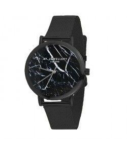 Horloge zwart marble, minimalistisch