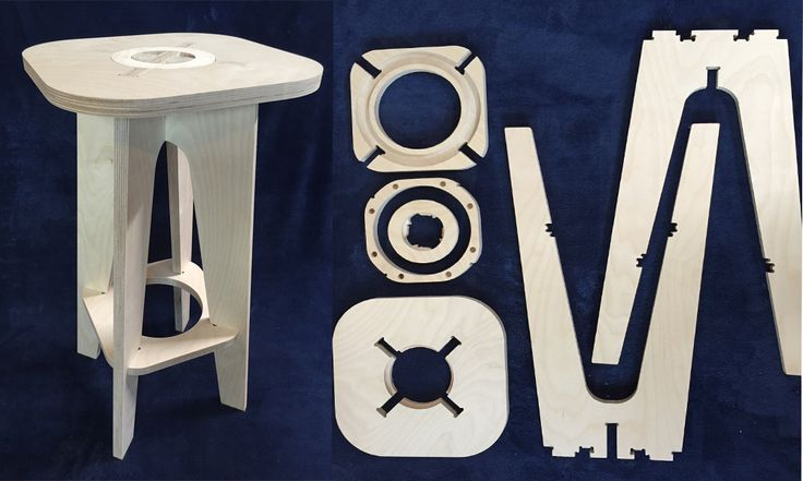 introducing the new modulus range of stools from minima #flatpack #cnc