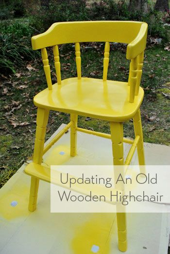 Great high chair makeover for a secondhand find or family hand-me-down