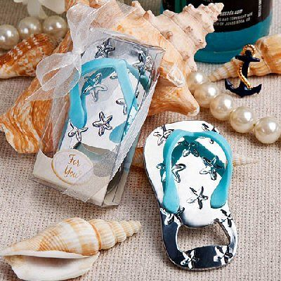 www.hastings-crystal.co.uk >> Favors/Favours >> Favors By Theme >> Beach Wedding Theme >> Flip Flop Bottle Opener Favours Set Of 10 (Discount For Bulk)