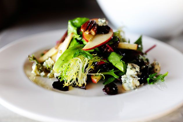 light dinner (Apple, Pecan, and Blue Cheese Salad with Dried Cherries ...