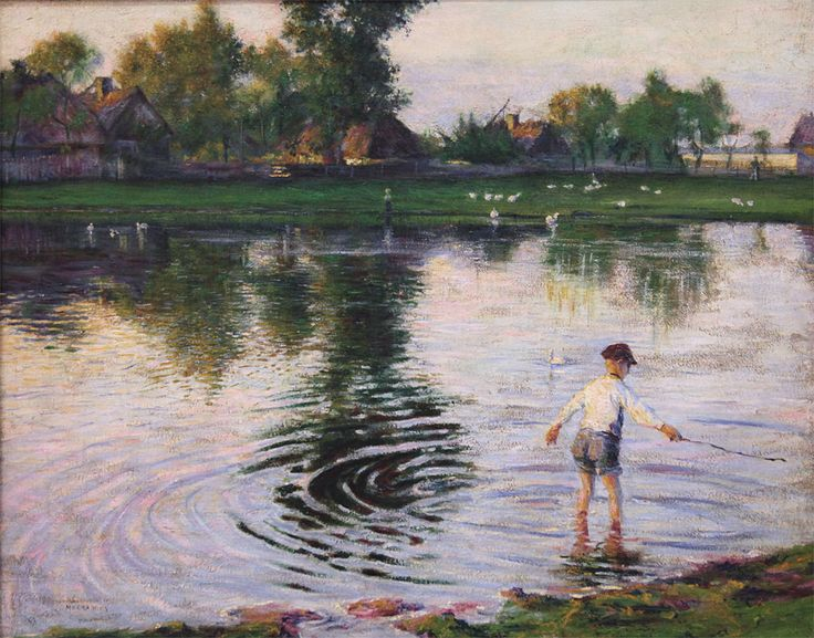 Władysław Podkowiński - Mokra Wieś, 1892