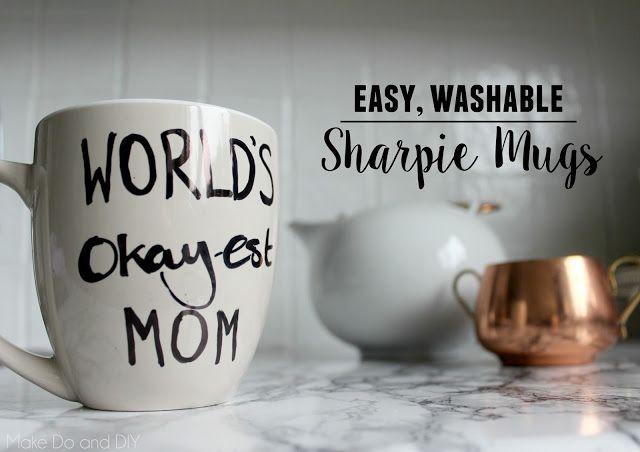 sharpie mug world's okayest mom