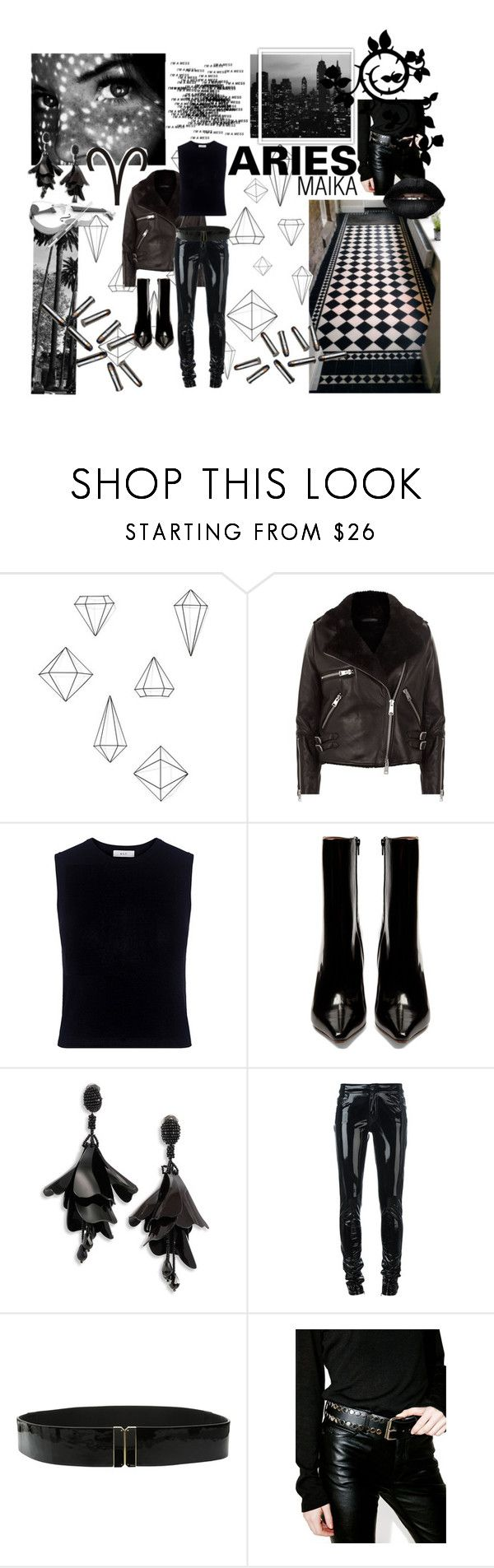 """""""Society Member: Aries"""" by sydsydrox ❤ liked on Polyvore featuring Umbra, AllSaints, A.L.C., Vetements, Oscar de la Renta, Anthony Vaccarello, Lauren Ralph Lauren, Funk Plus, black and society"""