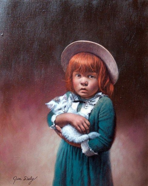 Jim Daly - Painting Of A Girl