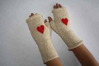 Children's Wool Fingerless Gloves $18 @www.jackandwilla.com
